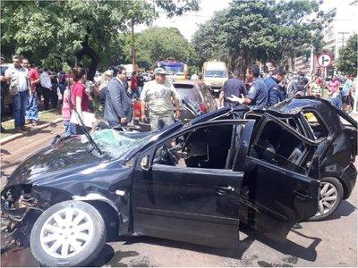 Accidente de tránsito con derivación fatal en CDE