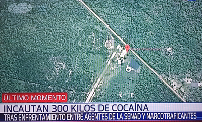Incautan 300 kilos de cocaína tras enfrentamiento en pista de aterrizaje
