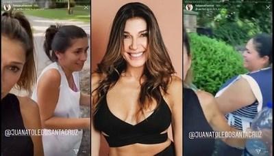 """Actriz argentina grabó cuando su """"doméstica"""" le hablaba en guaraní"""