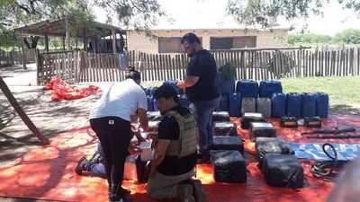 Incautan 300 kilos de cocaína en operativo conjunto en Presidente Hayes