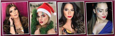 El brillo se impone en el make up festivo