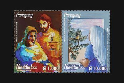 Estampillas navideñas con pinturas de Koki y Macarena Ruiz