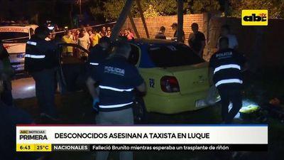 Desconocidos asesinan a taxista en Luque