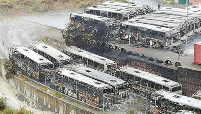 La quema de autobuses en La Paz acaba con sindicalistas en prisión
