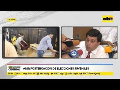 ANR: Postergación de elecciones juveniles