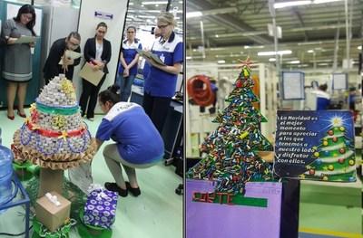 Empresa convirtió residuos industriales en adornos navideños