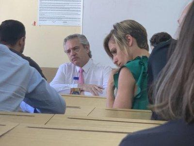 El presidente Alberto Fernández se fue a tomar examen a sus alumnos de Derechos