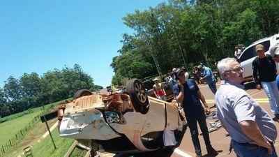 Mujer fallece tras volcar rodado en el Alto Paraná