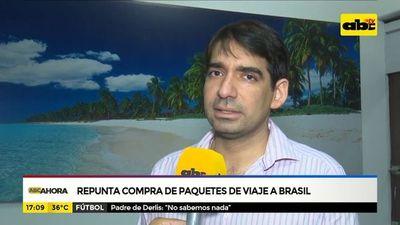 Repunta compra de paquetes de viaje al Brasil