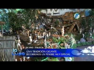 Pesebre gigante, una tradición familiar en Itauguá