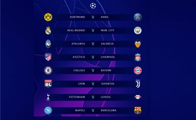 Champions League: ¡Sorteados los octavos de final!