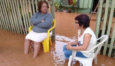 Varias viviendas quedaron bajo agua en Concepción