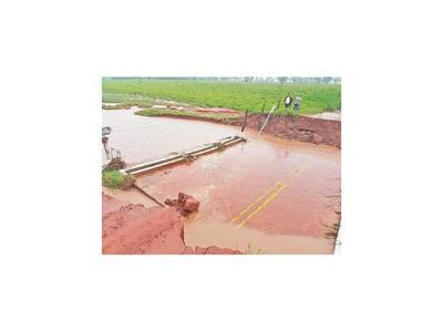 Canindeyú, bajo agua tras caer 100 milímetros de lluvia