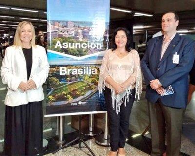 Vuelo directo entre Asunción-Brasilia afianzará el turismo y el intercambio comercial