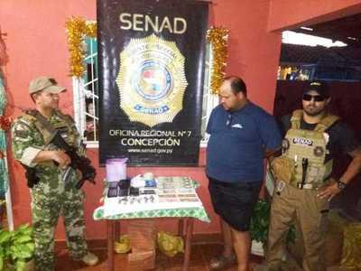 Cae joven con cocaína en Concepción
