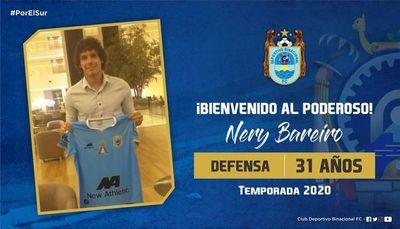 Binacional presenta a Nery Bareiro
