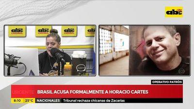Brasil acusa formalmente a Horacio Cartes