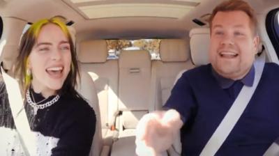 Mirá a Billie Eilish en el carpool karaoke junto a James Corden
