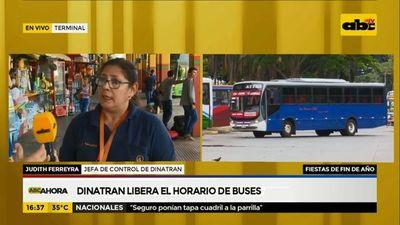 Dinatran liberó horario de buses