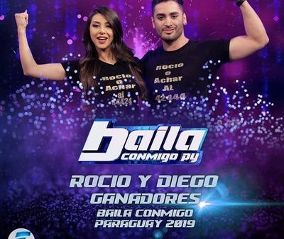 Rocío Adorno y Diego Achar son los campeones del Baila