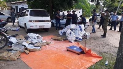 Cayeron 4 sujetos oriundos de Caaguazú con 400kilos de marihuana