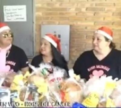 Hermoso gesto: Voluntarios llevan alegría a pacientes del Incán