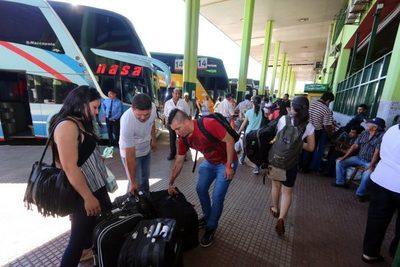Desde la liberación de horarios, 180.000 pasajeros ya pasaron por la Terminal de Asunción