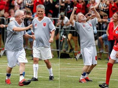 Lula y la forma de celebrar su libertad con sus aliados: el fútbol.