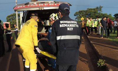 Alto Paraná segundo departamento con mayor cantidad de accidente de tránsito