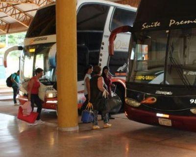 Frecuencias de buses liberadas desde el medio día