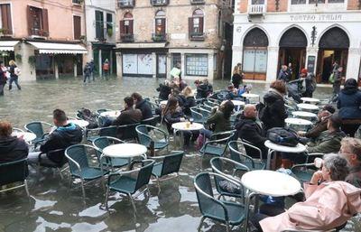 Venecia, bajo agua en Navidad