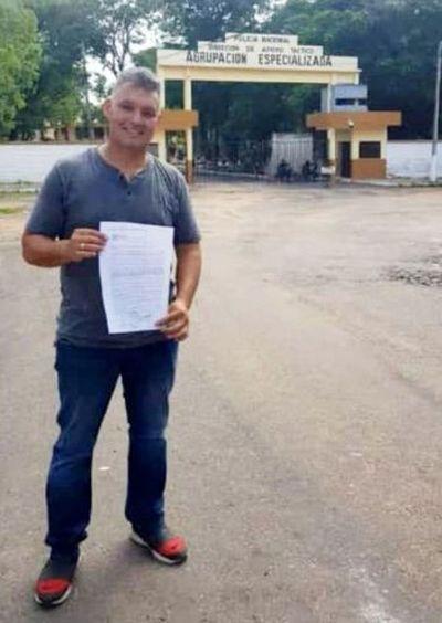 """Otra """"pelada"""" de la Fiscalía y Senad: sub comisario Víctor Orué en libertad"""