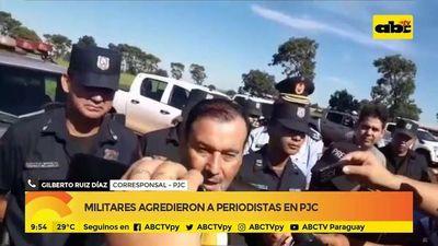 Militares agredieron a periodistas en PJC