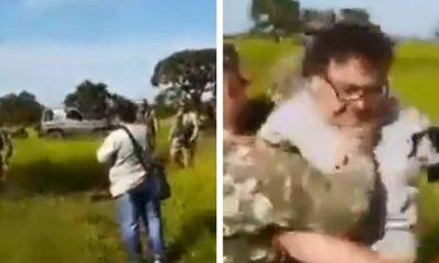 Militar agrede a periodistas en PJC