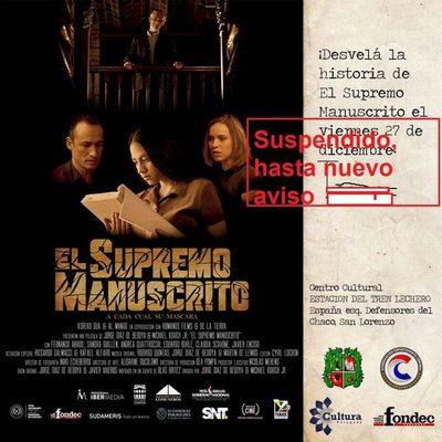 """Se posterga proyección de película """"El Supremo Manuscrito"""""""
