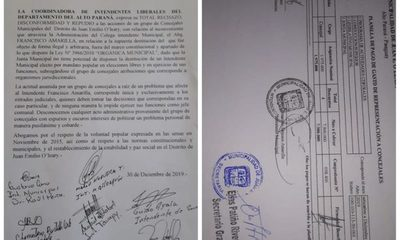 Concejales de O´leary hacen golpe e instalan intendente «mau»