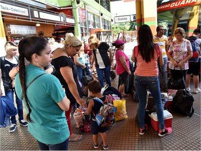 691.000 personas pasaron por la Terminal de Ómnibus de Asunción