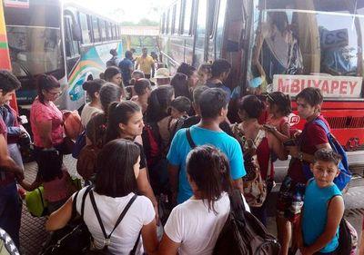 Año Nuevo: Reportan escaso movimiento en Terminal de Ómnibus de Asunción