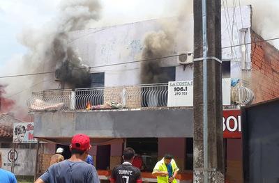 Incendio consume una vivienda en Concepción