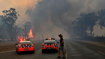 """Pareja en los incendios de Australia: """"Es como un escenario de guerra"""""""