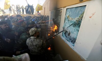 Embajada de EEUU en Bagdad suspende actividades tras ataque a su sede