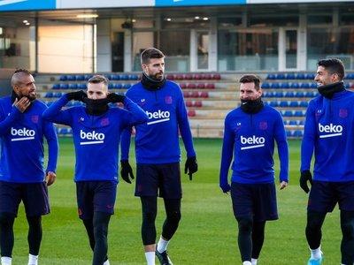 Messi, Suárez y Vidal se incorporan a los entrenamientos