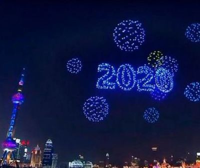 Show de drones deslumbró en Shanghái