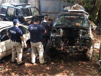 Recuperan camionetas hurtadas tras allanamiento a taller mecánico
