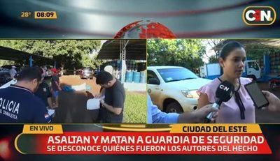 Asesinan a guardia de seguridad en intento de asalto