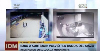 """""""Ladrones del mazo"""" asaltan estación de servicio en Guarambaré"""