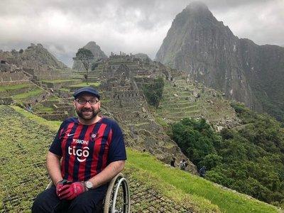 Con la azulgrana puesta conquistó Machu Picchu