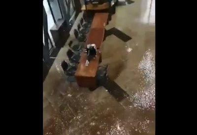 Edificio del Congreso Nacional sufre inundación por temporal