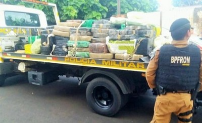 PRF incautó 63 toneladas de droga en el 2019
