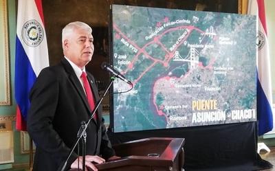 Se firma el contrato para la construcción del Puente Asunción- Chaco'i